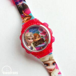 Zegarek LCD - Elsa i Anna z Krainy Lodu