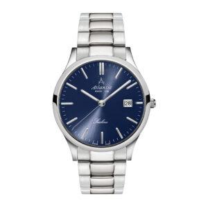 zegarek atlantic granatowa tarcza