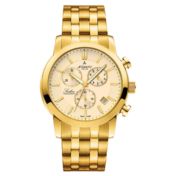 zegarek męski z chronografem atlantic