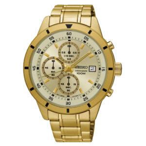 zegarek męski seiko złota bransoleta