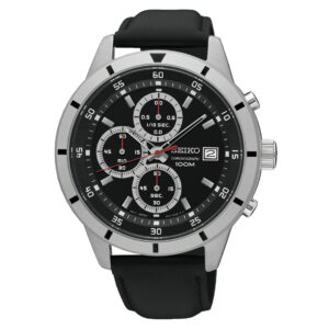 zegarek męski seiko czarny pasek