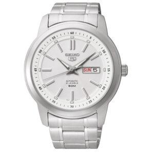 zegarek męski seiko srebrny Seiko SNKM83K1 Classic