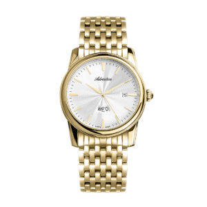 zegarek szwajcarski Adriatica męski bransoleta złoty