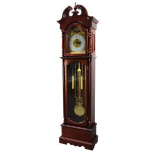 Zegar stojący wiśniowy
