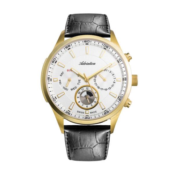zegarek szwajcarski Adriatica Męski pasek skórzany