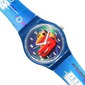 Zegarek naręczny - Auta niebieski (Cars)