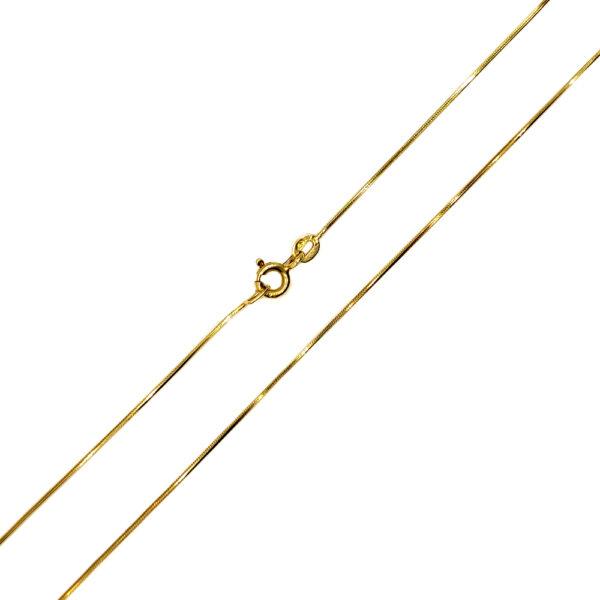 Łańcuszek złoty linka pełna 585 45cm