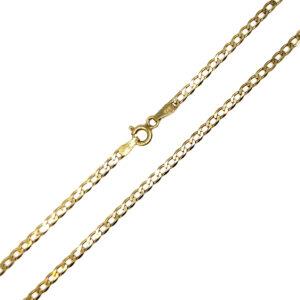 Łańcuszek złoty pancerka pełna 585 50 cm