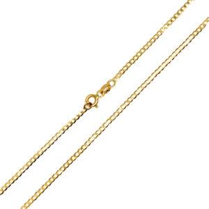 Łańcuszek złoty pancerka pełna 585 50cm