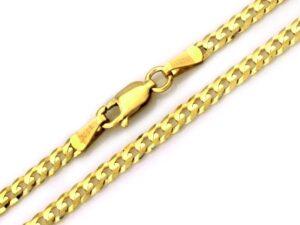 Łańcuszek złoty pancerka pełna 585