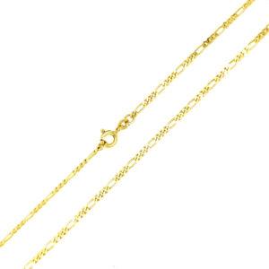 Łańcuszek złoty figaro pełny 333 50cm