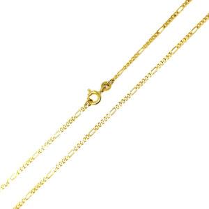 Łańcuszek złoty figaro pełny 333 55cm