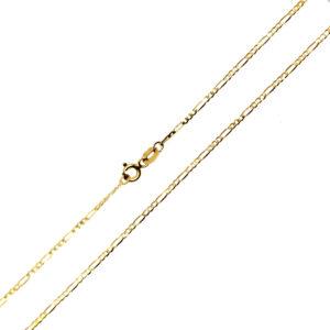 Łańcuszek złoty figaro pełny 585 42cm