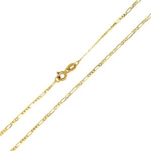 Łańcuszek złoty figaro pełny 585 45cm