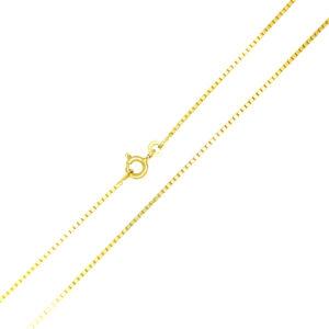 Łańcuszek złoty kostka pełna 333 45cm