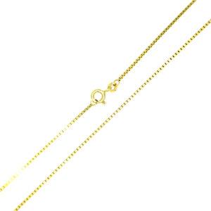 Łańcuszek złoty kostka pełna 333 55cm