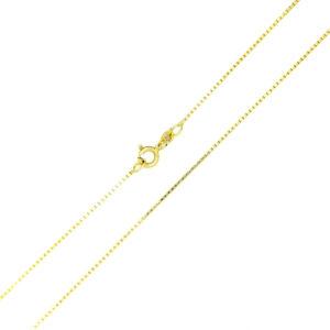 Łańcuszek złoty kostka pełna 333 60cm