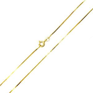 Łańcuszek złoty kostka pełna 585 50cm