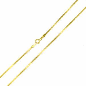 Łańcuszek złoty pancerka dmuchany 585 50cm