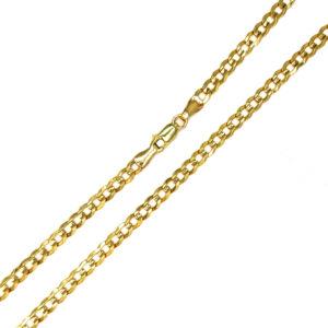 Łańcuszek złoty pancerka pełna 333 55cm