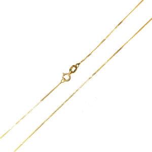Łańcuszek złoty pancerka pełna 585 45cm