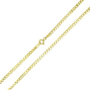 Łańcuszek złoty pancerka pełna 585 55cm