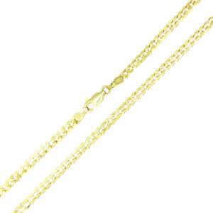 Łańcuszek złoty pancerka pełna 585 60cm