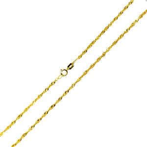 Łańcuszek złoty singapur pełny 585 42cm