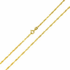 Łańcuszek złoty singapur pełny 585 45cm