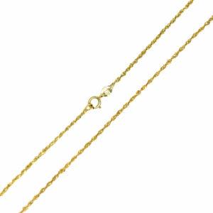 Łańcuszek złoty singapur pełny 585 48cm