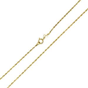 Łańcuszek złoty singapur pełny 585 50cm
