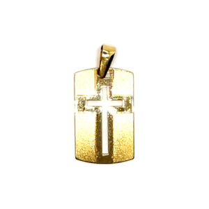 Złoty krzyżyk zawieszka 585