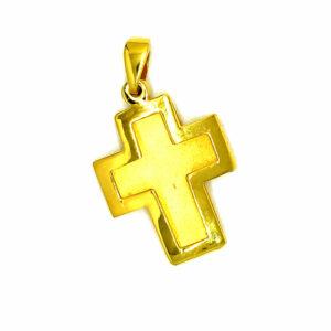 Złoty krzyżyk zawieszka 585 ZZW125