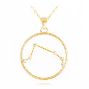 Pozłacany naszyjnik BARAN MINET Stars Znak Zodiaku JMAS9504GN45