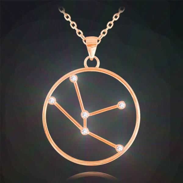 Rose gold naszyjnik BYK MINET Stars Znak Zodiaku JMAS9505RN45