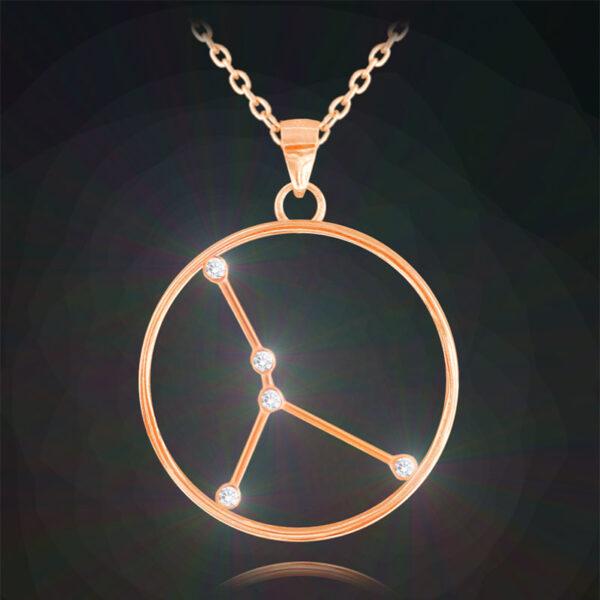 Rose gold naszyjnik RAK MINET Stars Znak Zodiaku JMAS9507RN45
