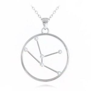 Srebrny naszyjnik BYK MINET Stars Znak Zodiaku JMAS9505SN45