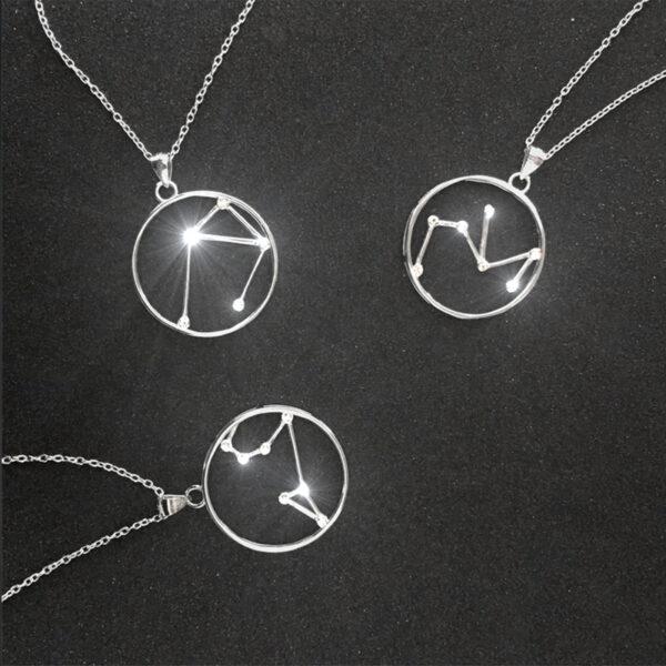 Srebrny naszyjnik LEW MINET Stars Znak Zodiaku JMAS9508SN45