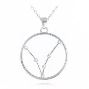 Srebrny naszyjnik RYBY MINET Stars Znak Zodiaku JMAS9503SN45