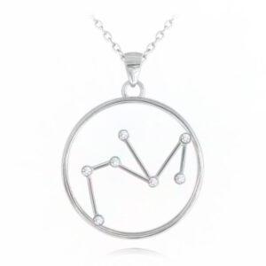 Srebrny naszyjnik STRZELEC MINET Stars Znak zodiaku