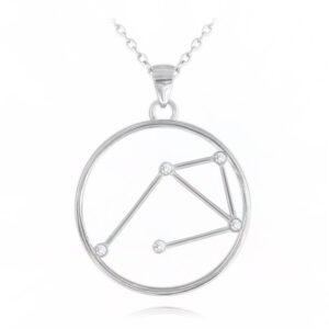 Srebrny naszyjnik WAGA MINET Stars Znak Zodiaku JMAS9510SN45
