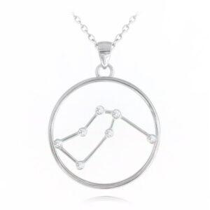 Srebrny naszyjnik WODNIK MINET Stars Znak zodiaku JMAS9502SN45