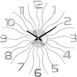 Zegar ścienny Srebrny LAVVU SUN LCT1220