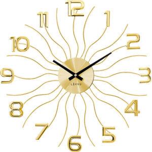 Zegar ścienny Złoty LAVVU SUN LCT1221