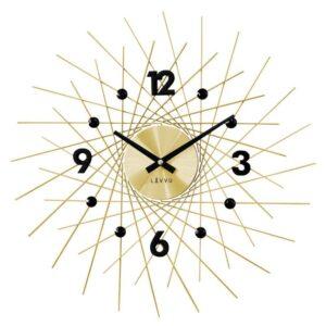 Zegar ścienny Złoty LAVVU Crystal Lines LCT1053
