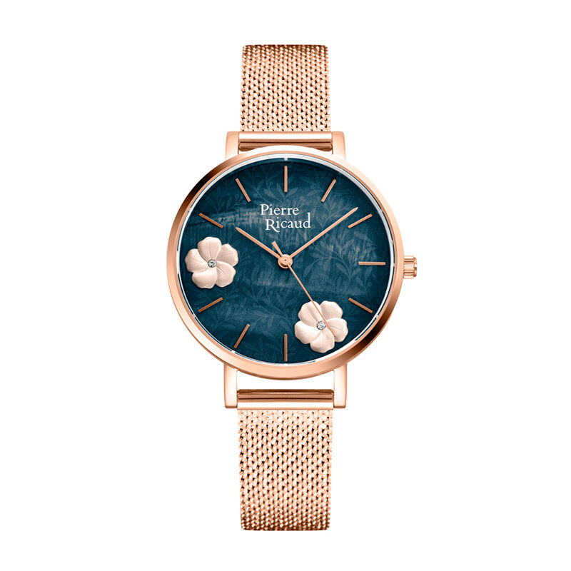 Pierre Ricaud P22105.9117Q Zegarek Damski tarcza z kwiatkami