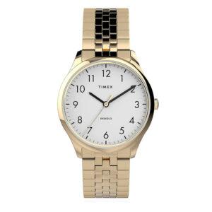 Timex TW2U40100 Easy Reader Zegarek damski złota rozciągana bransoleta