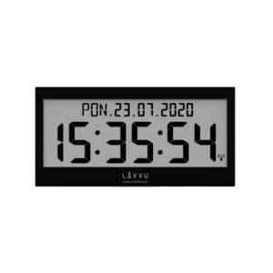 Zegar ścienny cyfrowy Czarny LAVVU LCX0011 z językiem polskim