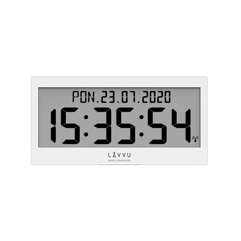 Zegar ścienny cyfrowy Biały LAVVU LCX0010