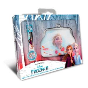 Zegarek Frozen 2 + Portmonetka Elsa i Anna zegarek dla dziewczynki